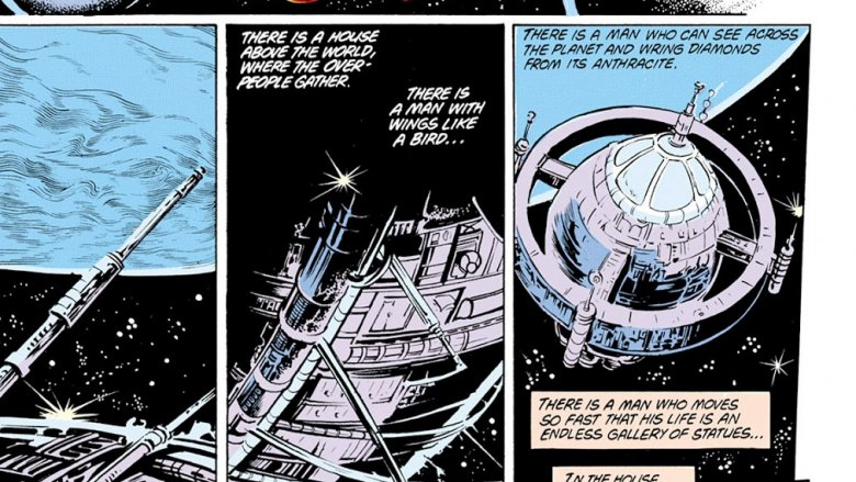 Images of the JLA's Watchtowers in Swamp Thing #24