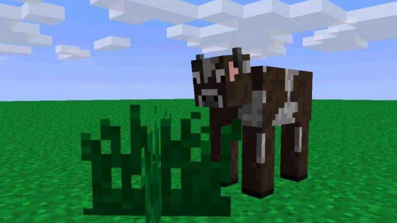 Minecraft cow