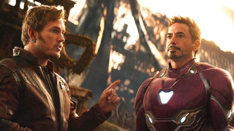 Chris Pratt and Robert Downey Jr. in Avengers: Infinity War