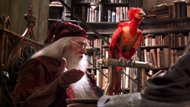 Richard Harris in Harry Potter