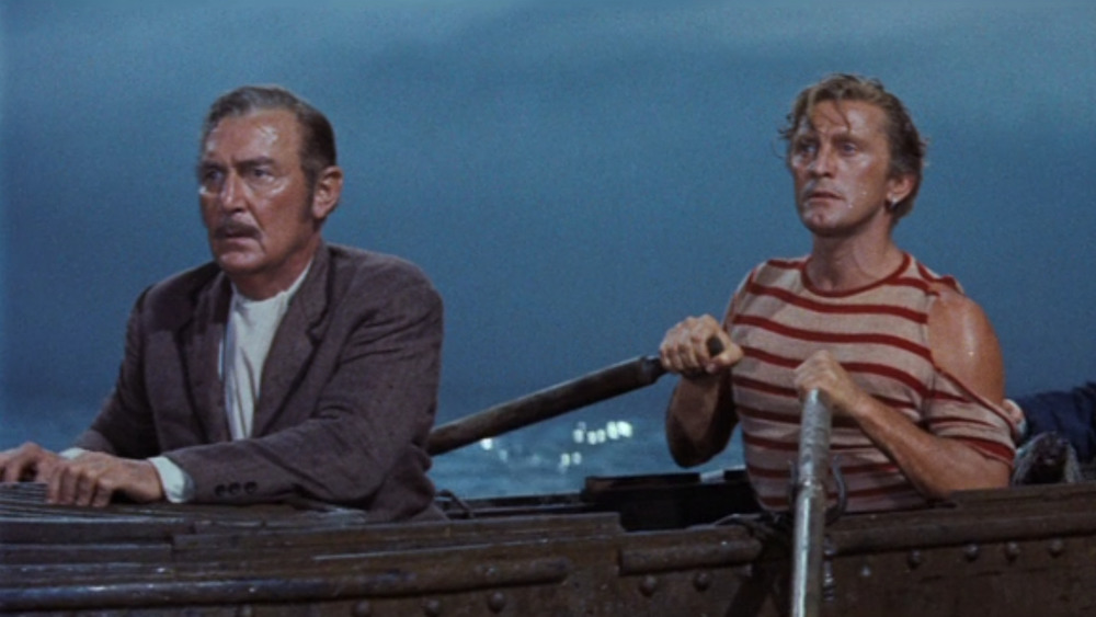 Ned and Aronnax in boat