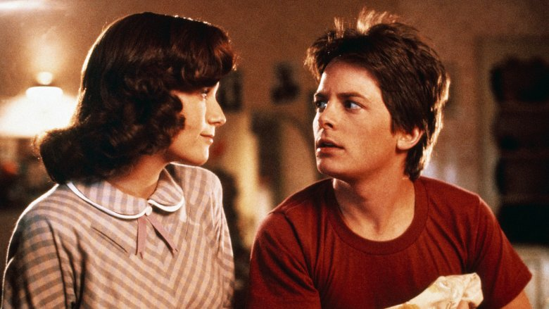 Lorraine and Marty McFly