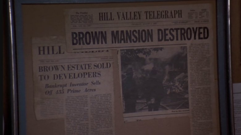 Doc Brown newspaper clippings