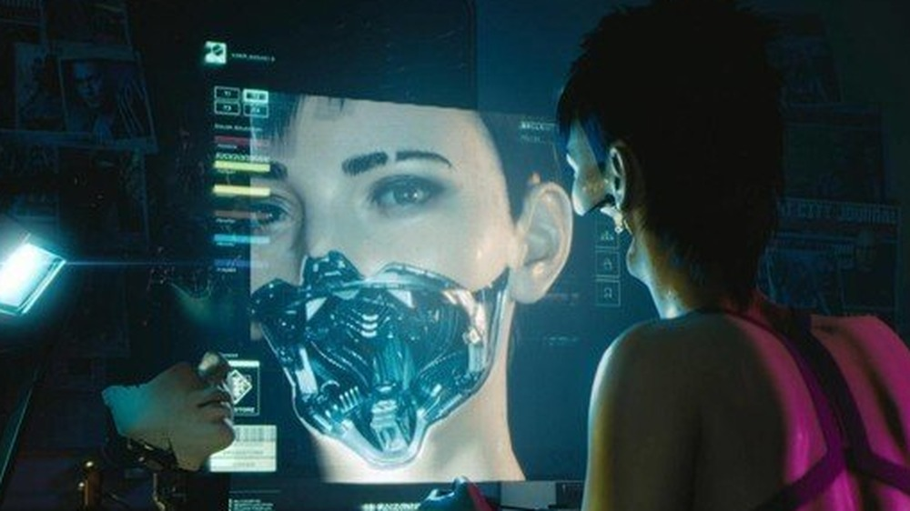 Computer screen Cyberpunk