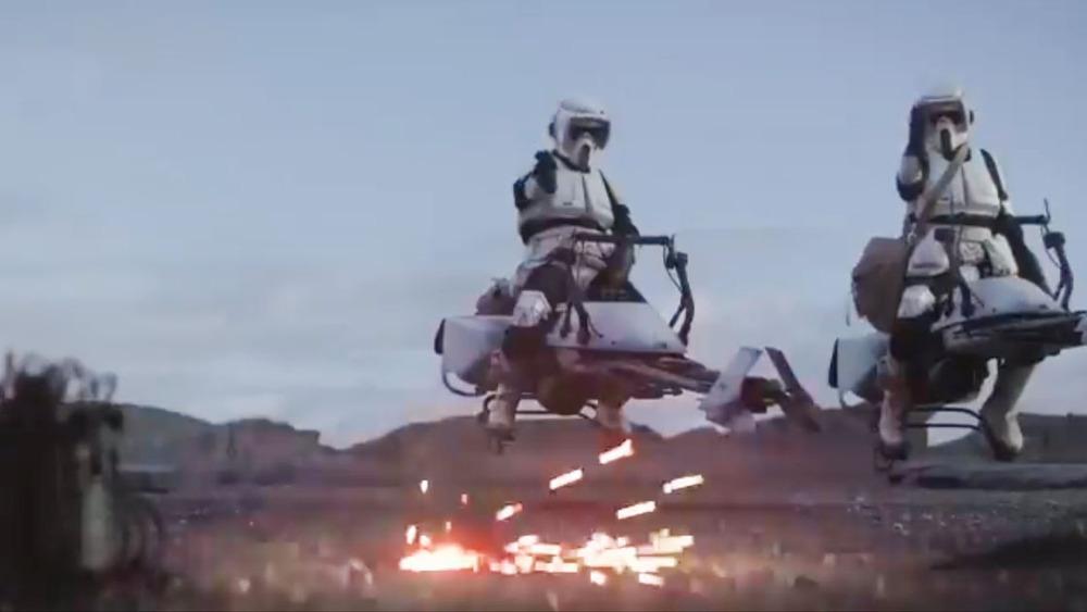 Stormtroopers poor aim Mandalorian