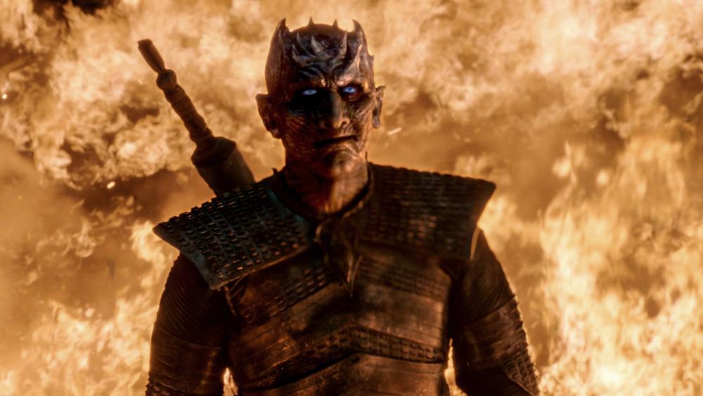 The Night King dragon fire