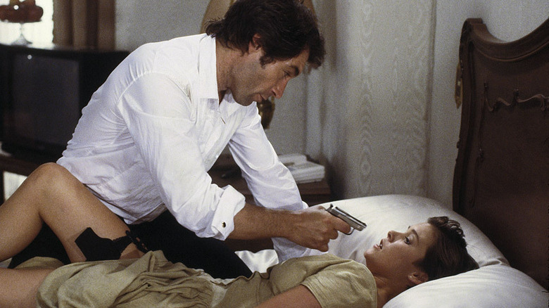 Timothy Dalton and Carey Lowell in Licence to Kill