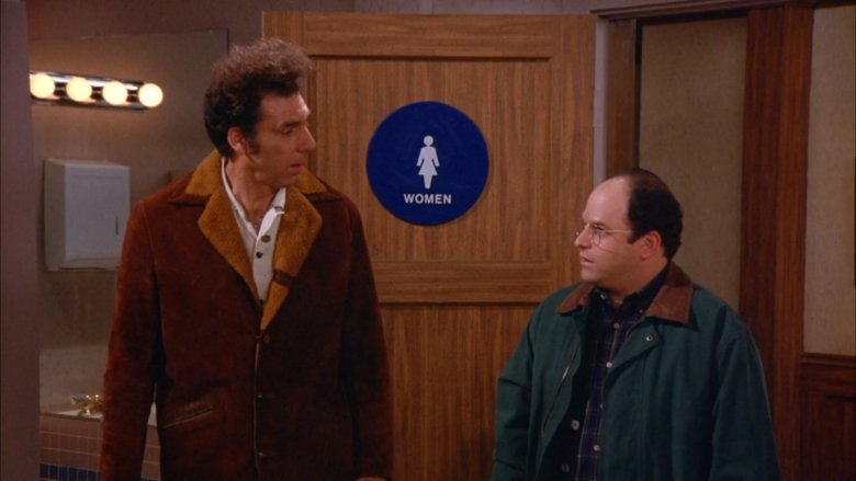 Michael Richards and Jason Alexander in Seinfeld