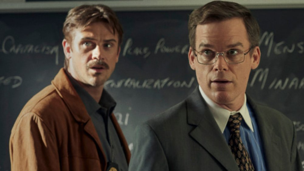Boyd Holbrook and Michael C. Hall in In the Shadow of the Moon