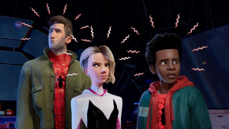 Peter Parker, Gwen Stacy, Miles Morales, Into the Spider-Verse