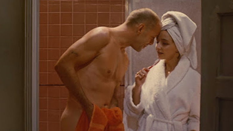 Bruce Willis and Maria Medeiros in Pulp Fiction