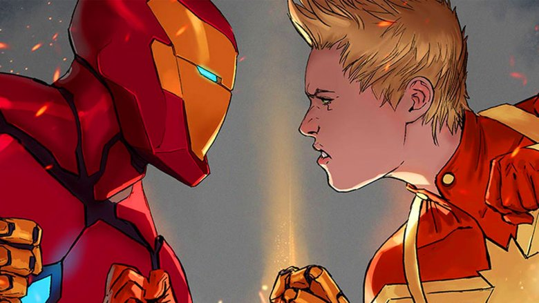 Captain Marvel vs. Iron Man