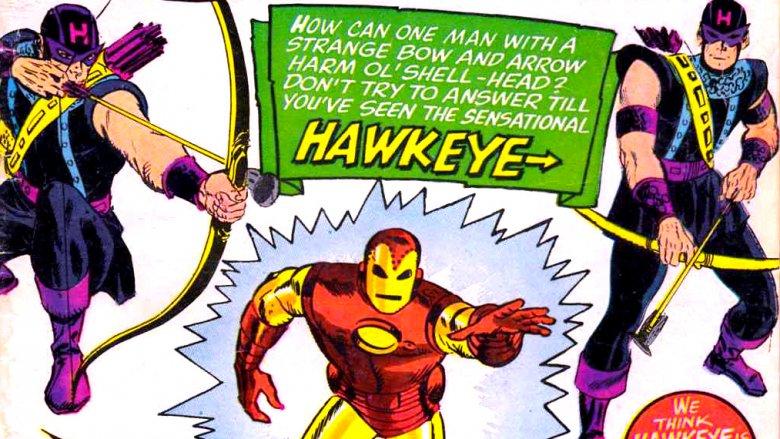 Hawkeye and Iron Man