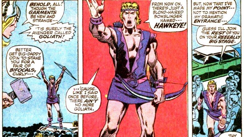Hawkeye's 1970s costume
