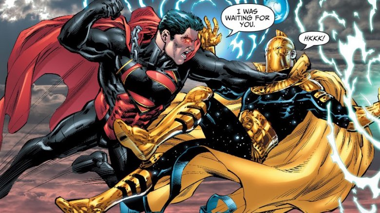 The evil Superman clone Brutaal fighting Doctor Fate