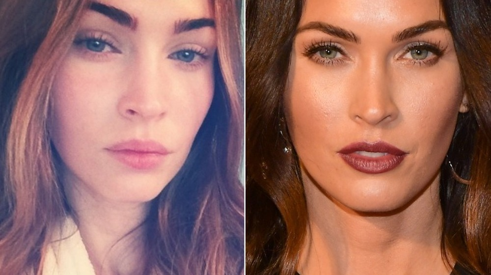 Megan Fox without and with makeup