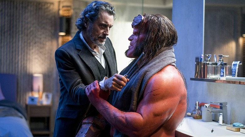 Ian McShane and David Harbour in Hellboy