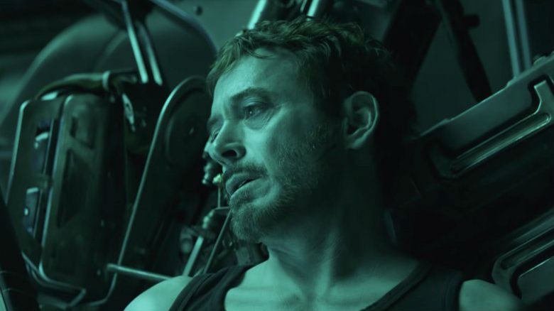 Stark in the trailer for Avengers: Endgame