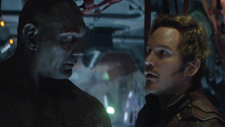 Dave Bautista and Chris Pratt in Avengers: Infinity War