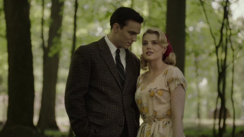 Lucy Boynton and Nicolas Hoult in Rebel in the Rye