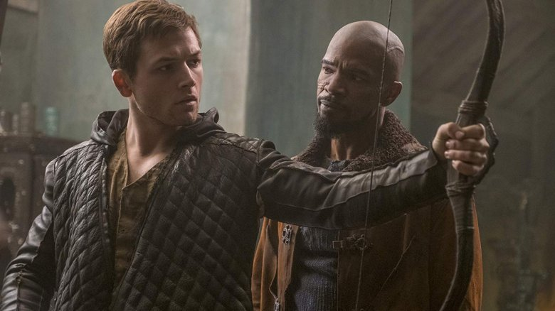 Taron Egerton and Jamie Foxx in Robin Hood (2018)