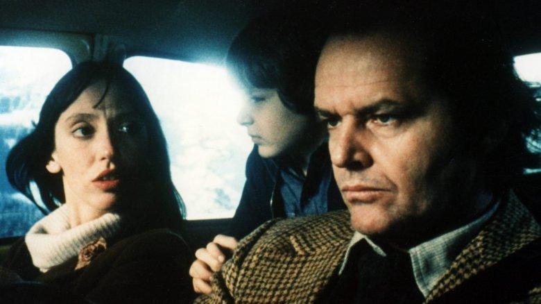 Shelley Duvall, Danny Lloyd, and Jack Nicholson in The Shining