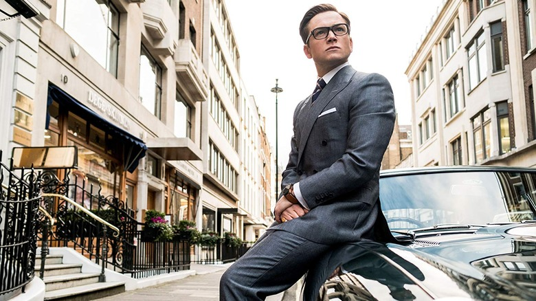 "Taron Egerton as Gary ""Eggsy"" Unwin in Kingsman: The Golden Circle"