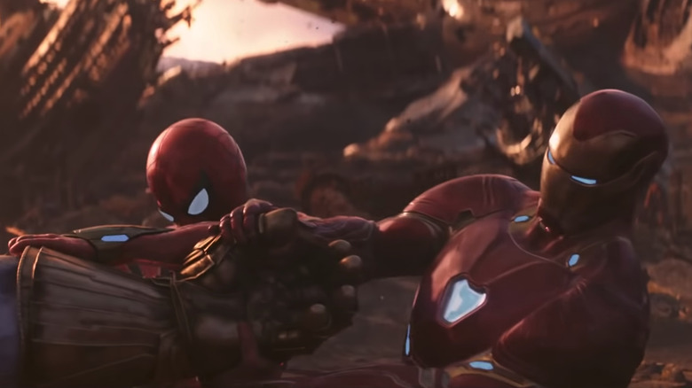 Iron Man and Spider-Man fail to get the Infinity Gauntlet