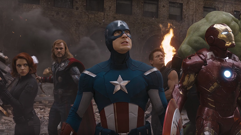 The Avengers in the Battle of New York