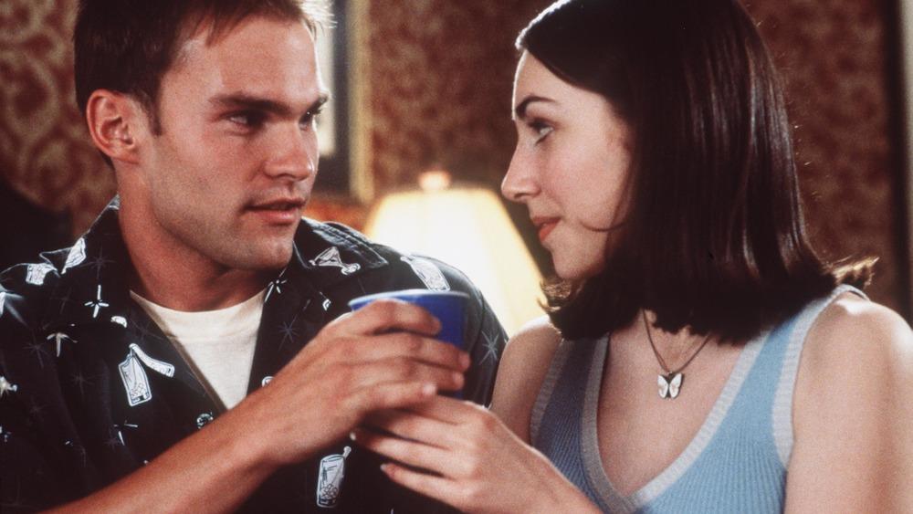 Seann William Scott and Eden Reigel in American Pie